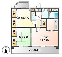 アモール喜多山[5階]の間取り