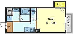 THE ESTATE NAGASE[306号室]の間取り