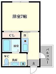 JJコート市岡元町[6階]の間取り