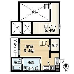 セレーネ豊田本町[2階]の間取り