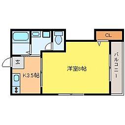 兵庫県神戸市東灘区森北町5丁目の賃貸マンションの間取り