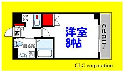東京メトロ東西線 西葛西駅 徒歩3分の賃貸マンション 7階1Kの間取り