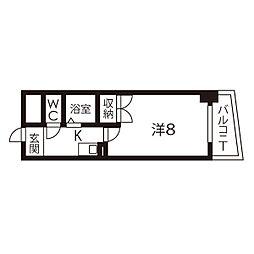 ケーエム泉[4階]の間取り