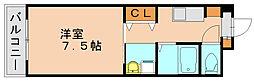 福岡県福岡市博多区那珂5丁目の賃貸マンションの間取り