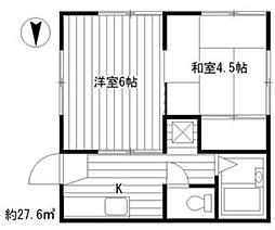 Hokushin-so[201号室]の間取り