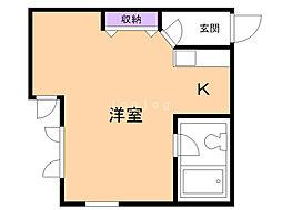 Via house  B 2階1Kの間取り