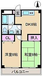 東京都北区上十条3丁目の賃貸マンションの間取り