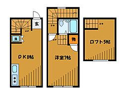 [テラスハウス] 東京都小平市上水本町5丁目 の賃貸【/】の間取り