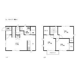 [一戸建] 福岡県福岡市東区松島1丁目 の賃貸【/】の間取り