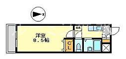 リヴェールメイ垂水[4階]の間取り