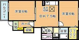 ブルックサイドレジデンス B棟[1階]の間取り