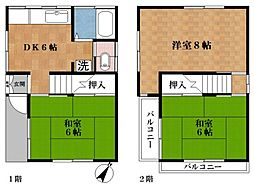 [一戸建] 東京都江戸川区西一之江2丁目 の賃貸【/】の間取り