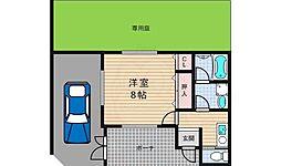 小倉東町貸家 1階1Kの間取り