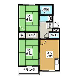 竹内マンション[2階]の間取り