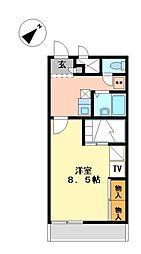 兵庫県姫路市香寺町犬飼の賃貸アパートの間取り