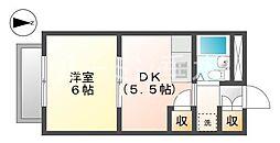 サンハイツ多井田D棟[3階]の間取り