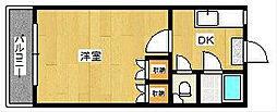 コーポ南片江[2階]の間取り