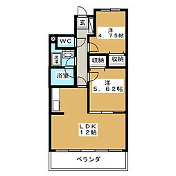 クレール野田[3階]の間取り