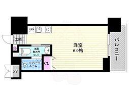 JR東海道・山陽本線 京都駅 徒歩13分の賃貸マンション 3階ワンルームの間取り