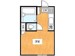 ハイツイシカワ[1階]の間取り