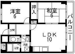 パルコート浅井[206号室号室]の間取り