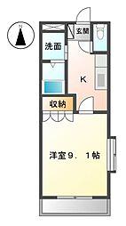 愛知県日進市藤塚1丁目の賃貸マンションの間取り