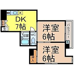 Casa Okuda(カーサオクダ )[301号室]の間取り
