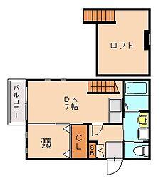 ビータス賀茂弐番館[1階]の間取り