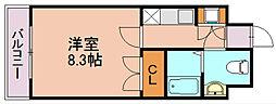 ダイナコートスタシオン博多[2階]の間取り