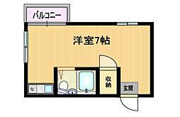 大阪府大阪市都島区都島南通1丁目の賃貸アパートの間取り