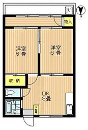 開拓荘2号棟[26号室号室]の間取り