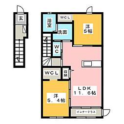 ベルパルティーダ[2階]の間取り