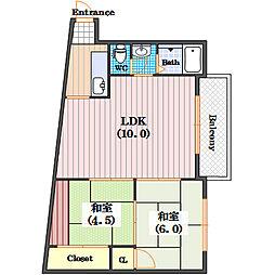 タウンハウス本田[2階]の間取り