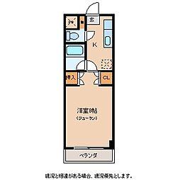 FIVE[2階]の間取り