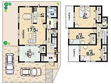 駐車2台可能・全居室6帖以上