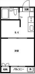 シャレー祐天寺カワベ第10[1階部分号室]の間取り