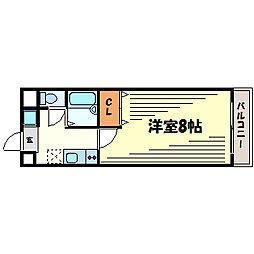 兵庫県西宮市津門大塚町の賃貸マンションの間取り