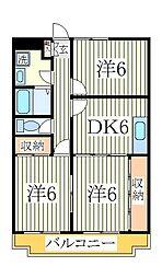メゾンドールビュー[4階]の間取り