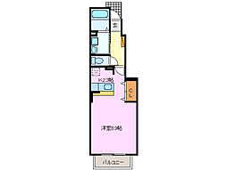 三重県四日市市日永東3丁目の賃貸アパートの間取り
