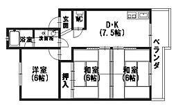 レジデンス黒田[2階]の間取り