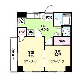 東京都大田区南久が原1丁目の賃貸マンションの間取り