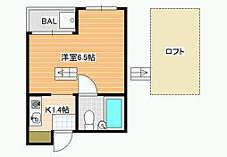 メゾンリバーサイドII[2階]の間取り