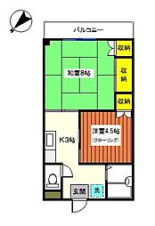 神奈川県横浜市神奈川区三ツ沢中町の賃貸マンションの間取り
