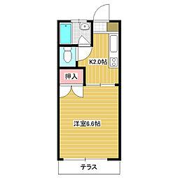 福岡県福岡市東区千早6丁目の賃貸アパートの間取り