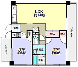 エスペーロ2[2階]の間取り