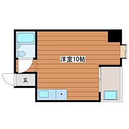 サンハイツ東梅田[302号室]の間取り
