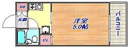 兵庫県神戸市灘区灘南通6丁目の賃貸マンションの間取り