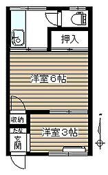 第二寿荘[203号室]の間取り