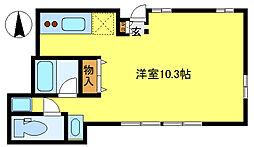 サンライズ11[1階]の間取り