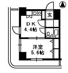 ダイアパレス高田弐番館[11階]の間取り